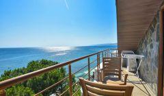 Çift Kişilik Deniz Manzaralı Teras Odamızın Balkonu