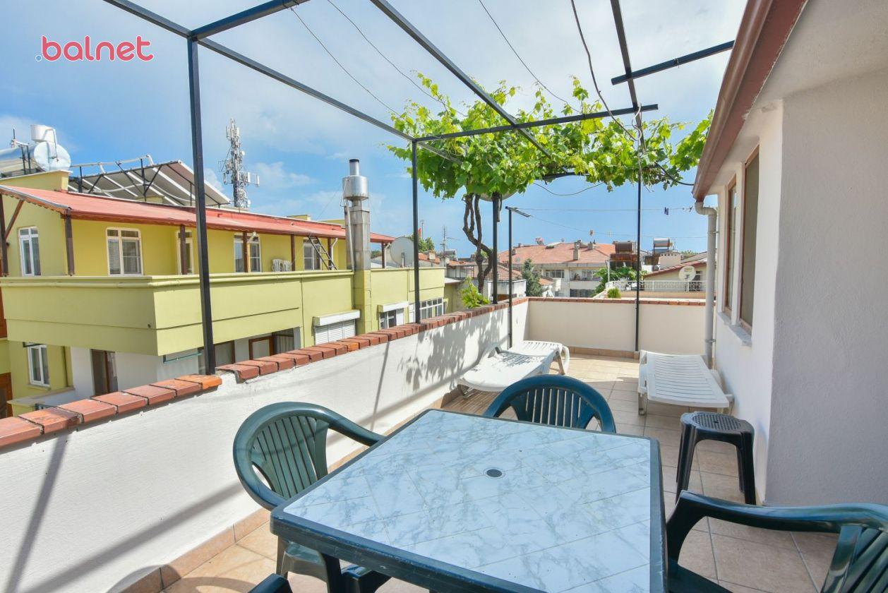 1+1 Dört Kişilik Mutfaklı Dairemizin Teras Balkonu