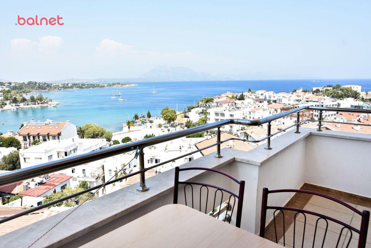 1+1 Apart Mutfaklı Aile Dairemizin Balkonundan Deniz Manzarası